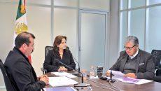 Los Comisionados durante la Sesión Extraordinaria de Pleno