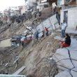 Lomas de Rubí es una zona urbanizada que creció ilegalmente en Tijuana, BC, y que con lluvias atípicas el agua retomó su cauce. (Foto tomada en febrero- 2018). (Fotos: tomadas del diario The San Diego Union-Tribune.)