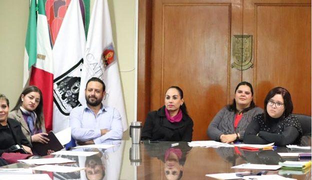 Elizabeth López representante del IZAI, Miguel Ruiz de Fomento Económico, Fabiola Inguanzo Secretaria de Turismo y Lucía Medina del Ayuntamiento de Zacatecas