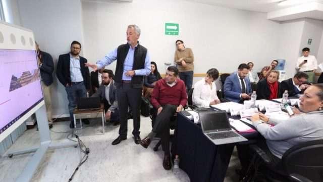 Joel Salas Suárez, Comisionado del INAI, en la primera Sesión Ordinaria con los integrantes de la Comisión de Gobierno Abierto y Transparencia Proactiva del SNT
