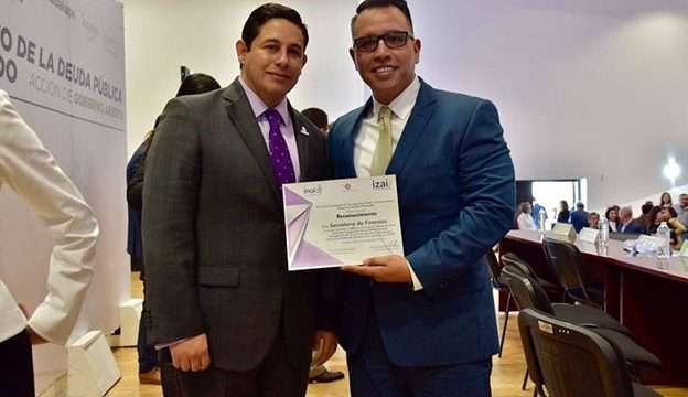 Jorge Miranda Castro, Secretario de Finanzas con Juan Carlos de Santiago Alfaro, Unidad de Transparencia de la SEFIN.