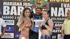 La Barbie Juárez y Eva María Naranjo cumplen con el pesaje