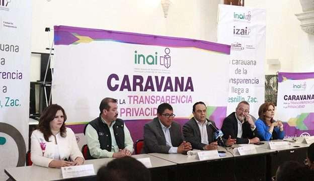 Los Comisionados del INAI y el IZAI con el Presidente Municipal Saúl Monreal en Fresnillo